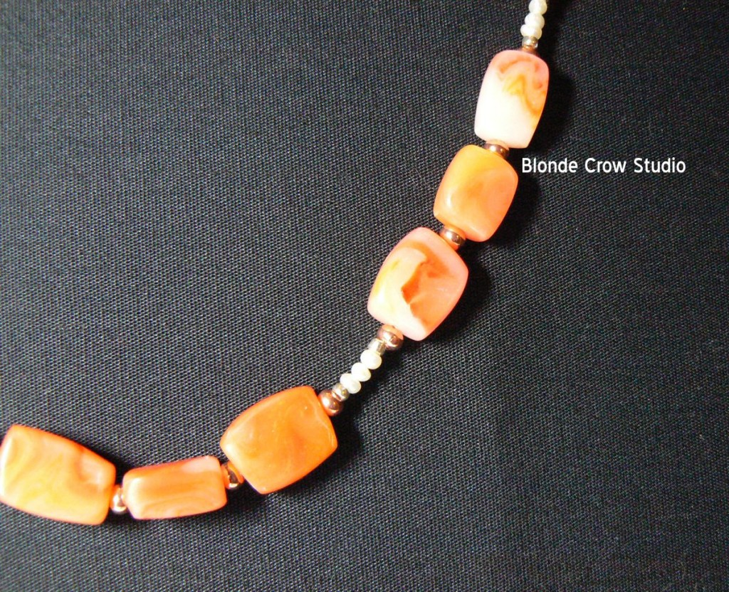 Ambery agate beads