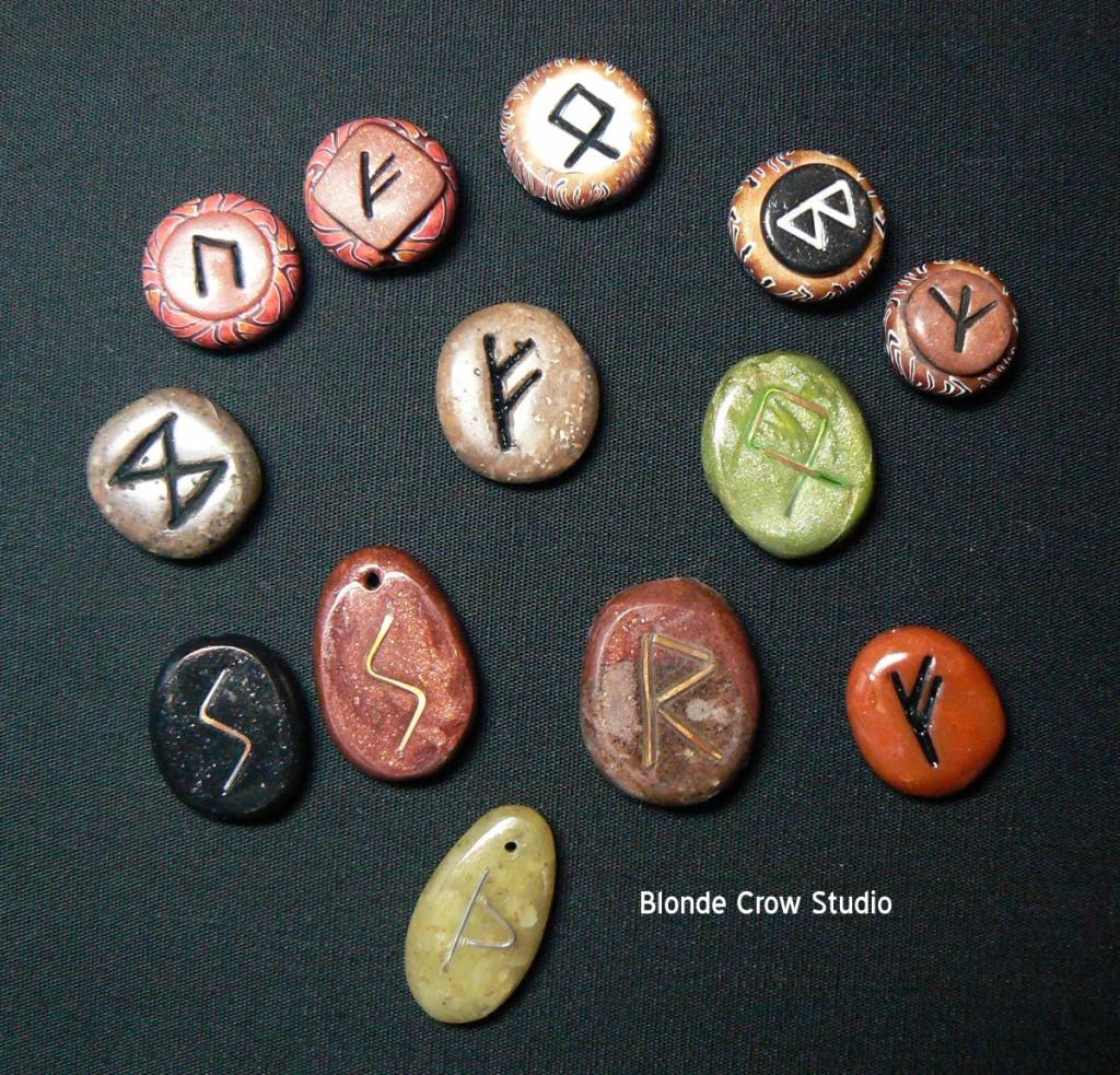 Assorted rune beads