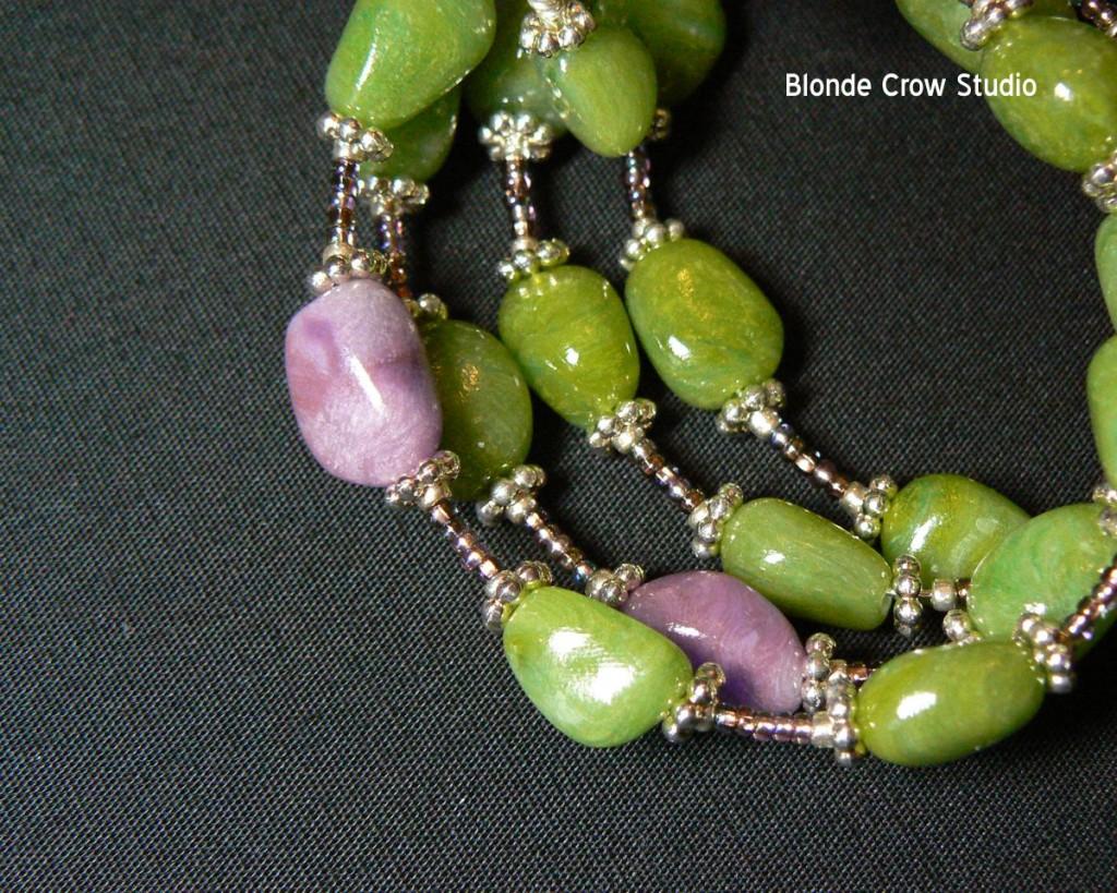 Faux jade bracelet