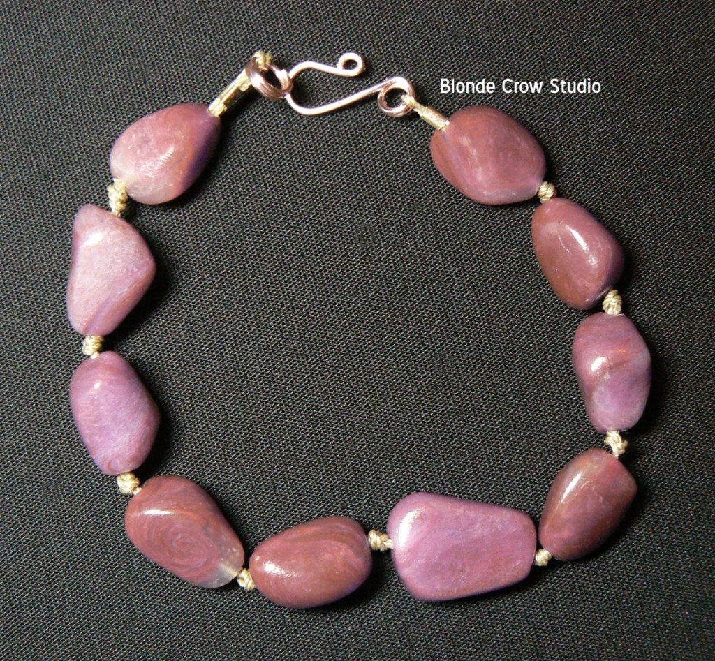 Faux purple jade bracelet