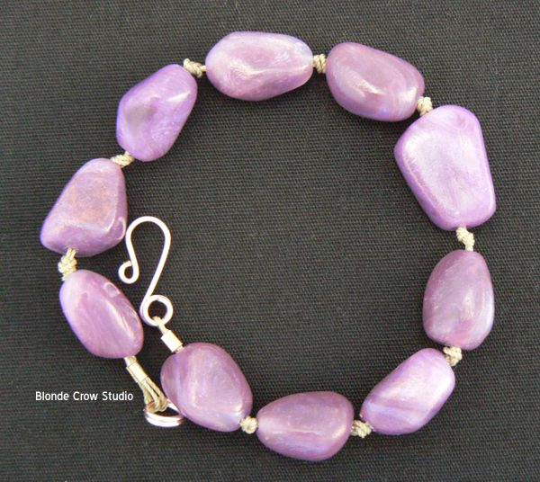 MJB faux cloudy amethyst beads
