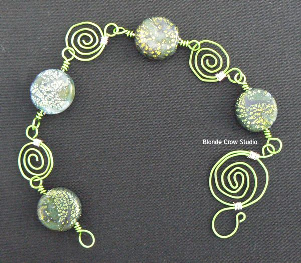 MJB mermaid swirl beads