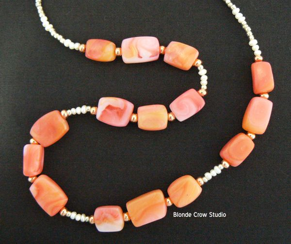 MJB strawberry quartz beads