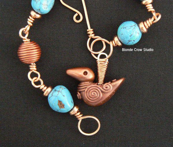 MJB turquoise crow beads